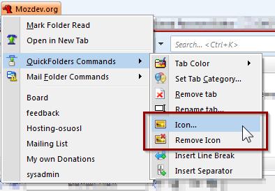 select icon command