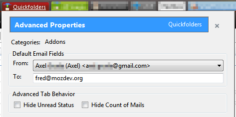 Default email fields