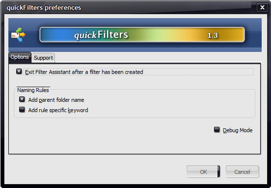 filters options