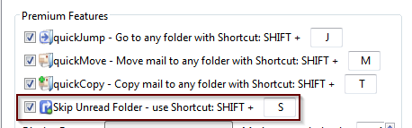 skip unread shortcut